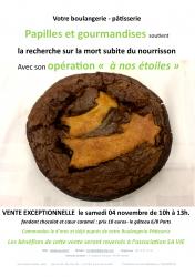 "Gâteau fondant Chocolat - opération ""à nos étoiles"" BOUAYE - 4 nov"